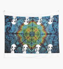 Tie Dye Alien Salute Wall Tapestry