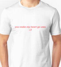 Du lässt mein Herz gehen uwu Slim Fit T-Shirt