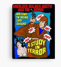 Sherlock Holmes - A Study in Terror. Canvas Print