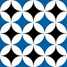 Black and Blue Geometric Pattern A by TMBTM