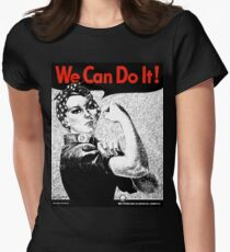 We Can Do It - Rosie the Rivetor Womens Fitted T-Shirt