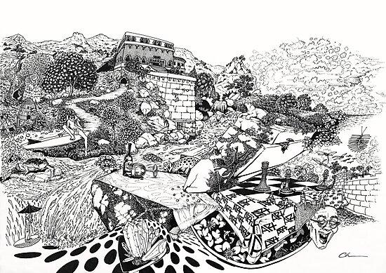 Fantasy Doodle by Chris Baker