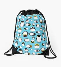 Know Your Penguins Drawstring Bag
