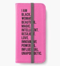 Ich bin schwarze Frau | Afroamerikaner | Schwarze Leben iPhone Flip-Case/Hülle/Klebefolie