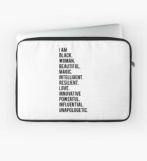 I Am Black Woman | African American | Black Lives Laptop Sleeve
