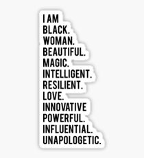 Ich bin schwarze Frau | Afroamerikaner | Schwarze Leben Sticker