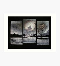 Three Worlds In One/ Split Plains Art Print