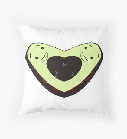 The Lovecado - Avocado Heart Graphic Throw Pillow