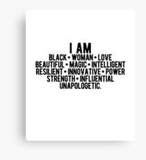 Ich bin eine schwarze Frau | Starke Frau | Afroamerikaner Leinwanddruck