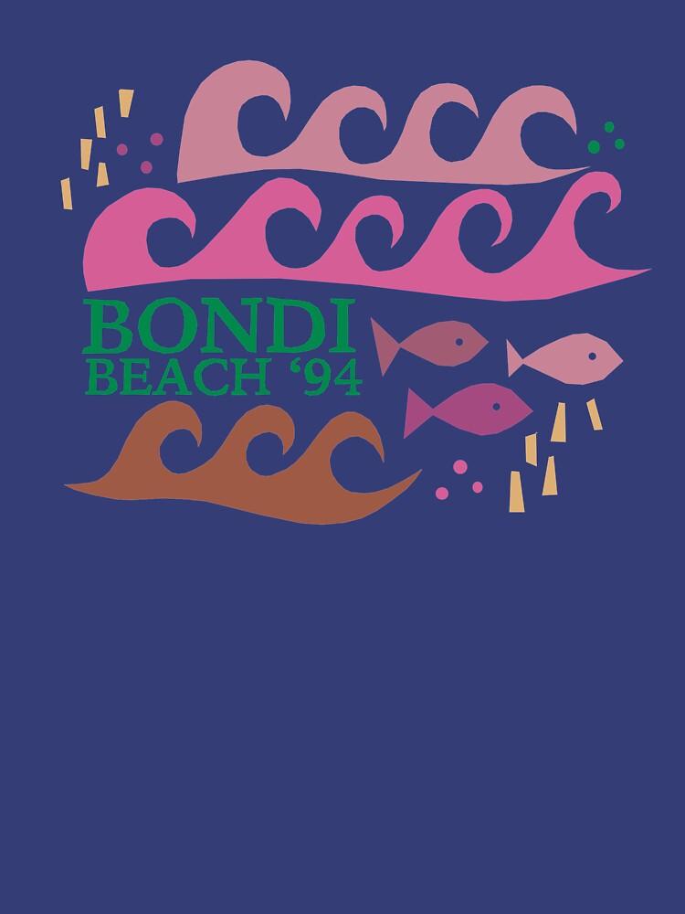 Bondi Beach Modern Vintage/Retro original design by challisandroos