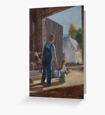 Little Milkmaid Greeting Card