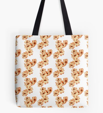 Six Orange Yellow Painted Flowers Tote Bag