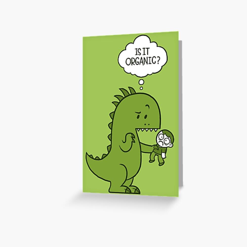Organic Dinosaur Greeting Card