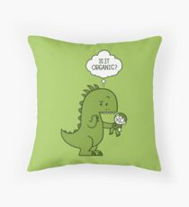 Organic Dinosaur Throw Pillow