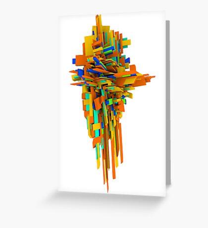 Coloured Blocks Greeting Card