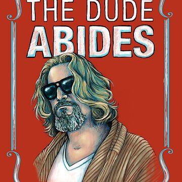 BIG LEBOWSKI-The Dude- Abides von MichelleEatough