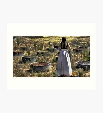 The Rising Angel of The Badlands Art Print