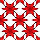 Red Stars shurikens Pattern by TMBTM