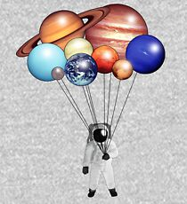 Astronaut Balloons Kids Pullover Hoodie