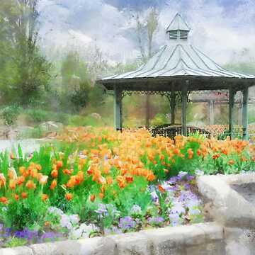 Garden with Tulips by Francesa