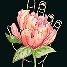 Gilded Hands - Peony (Dark Version) by Catherine Herold