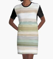 Strips Graphic T-Shirt Dress