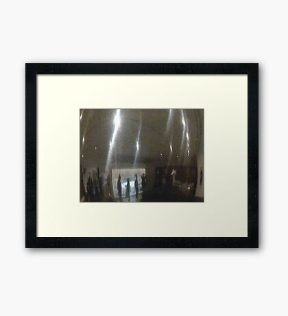 Mirror Flashes Framed Print