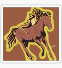 the horse one and she is one of the beauties of nature Sticker