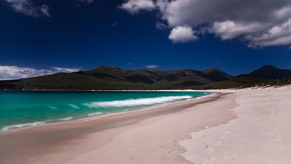 Waves on Wineglass Bay by morealtitude