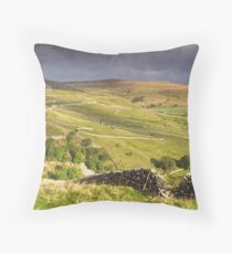Yorkshire Dales Landscape at Malham Throw Pillow
