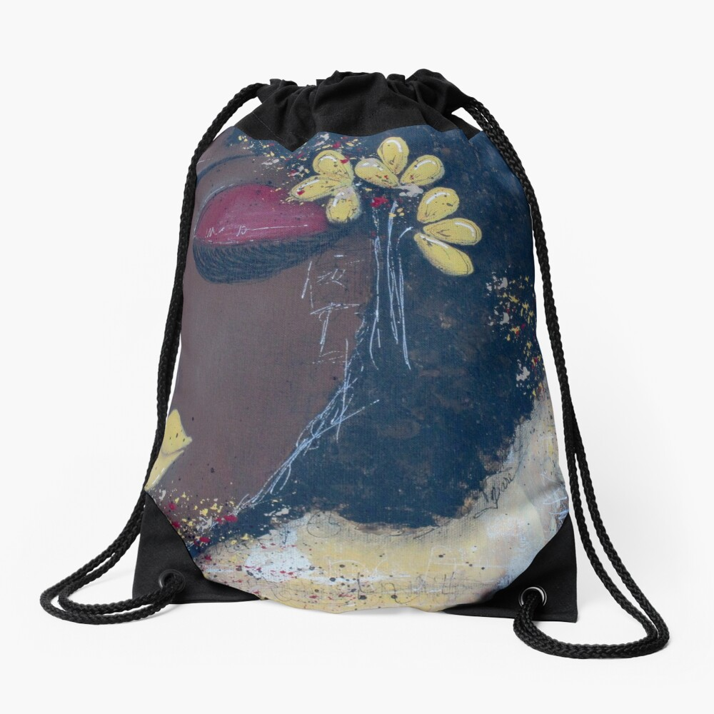 Sassy Girl Magic Drawstring Bag Front
