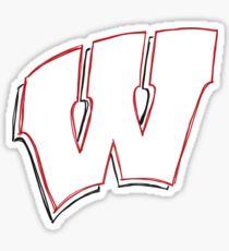 Sketch of Wisconsin W Sticker