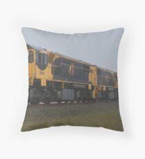Misty Morining Train Throw Pillow