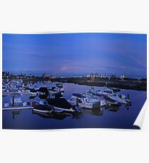 Shoreline Village Marina Port in Long Beach, California Poster