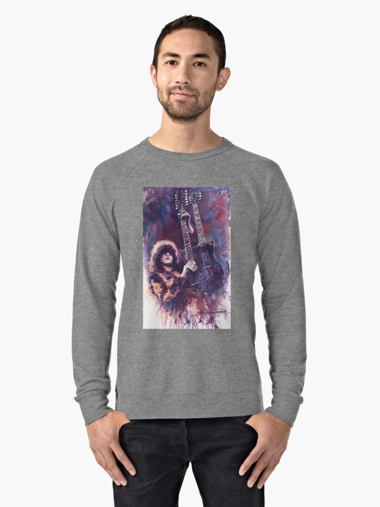 Jimmy Page  Lightweight Sweatshirt Front