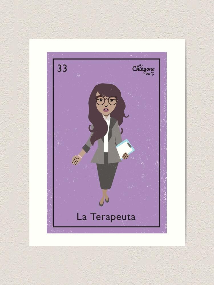 Alternate view of La Terapeuta Art Print