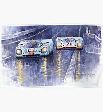 Gulf-Porsche 917 K Spa Francorchamps 1970 Poster