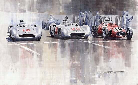 French GP 1954 MB W 196 Meserati 250 F by Yuriy Shevchuk