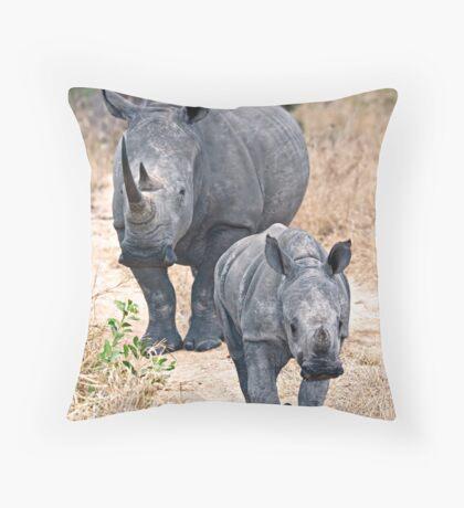 The Rhino Walk Throw Pillow