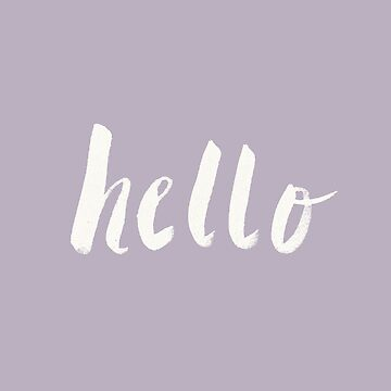 Hallo x Lavender Script von adventurlings