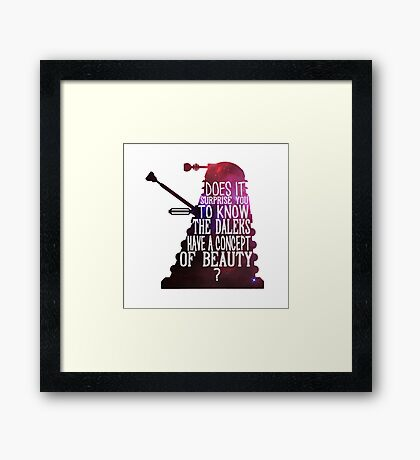 A Concept of Beauty... Framed Print