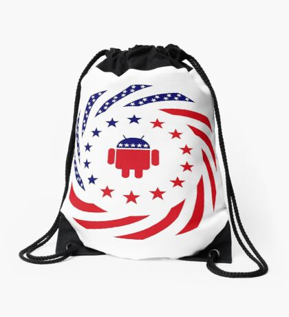 Android Murican Patriot Flag Series Drawstring Bag