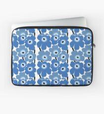Marimekko Blauer Blumendruck Laptoptasche