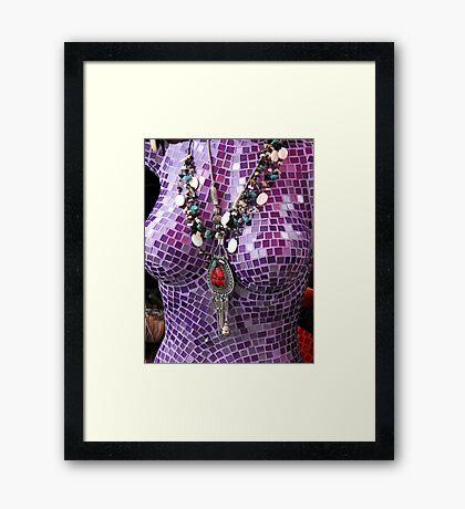 Purple Figure Framed Print