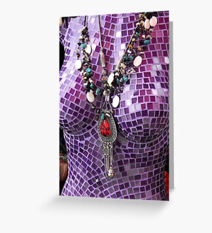 Purple Figure Greeting Card
