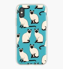 Siamese Cats - sparse pattern iPhone Case