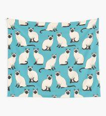 Siamesische Katzen - spärliches Muster Wandbehang