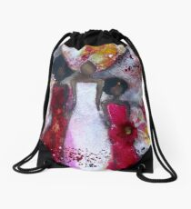 Fierce Fire Femme Drawstring Bag