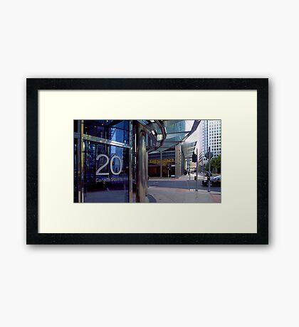 London - 20 Canada Square, Canary Wharf Framed Print