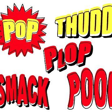 COMIC BOOK SOUNDS Pop Art by BruceALMIGHTY